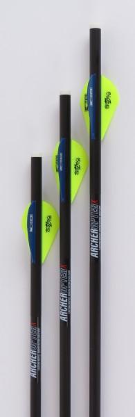 """ArcheropterX 18"""" Carbon-Crossbow Arrow .001 mit TopHat Präzisionsspitze"""